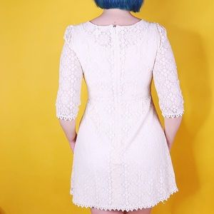 Miss Chievous Dresses - Ivory Lace Mini Dress